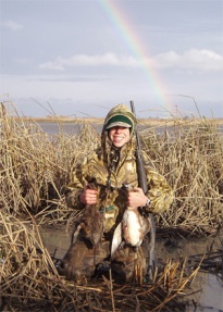 A Wigeon double for Griff at Delevan in 2005, just after the storm passed and the sun came out.